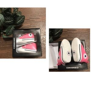 CONVERSE CRIB PINK BABY BOOTIES SIZE 1